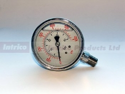 J Series Stainless' 100mm Hydraulic Gauges